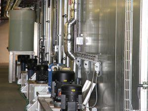 Туннельная мойка - насосы установки поготовки поверхности