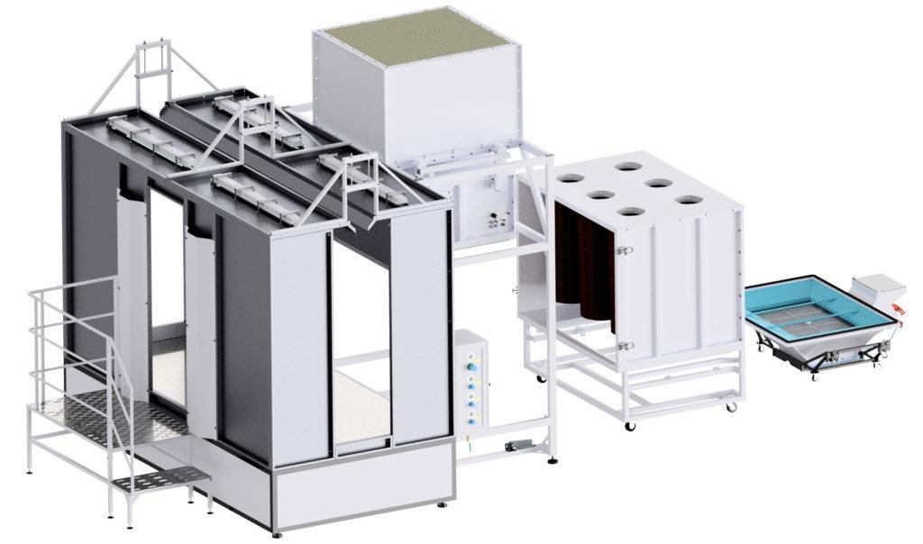 Камера напыления порошковой краски КН-6-ПБФР-2