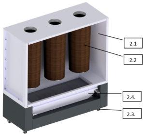 Сменный блок фильтрации порошковой краски
